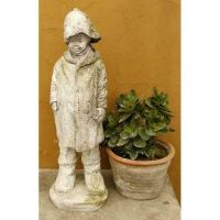 Rainy Day 18.5in. - Fiber Stone Resin - Indoor/Outdoor Garden Statue