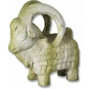 Ram Standing 11in. - Fiber Stone Resin - Indoor/Outdoor Garden Statue