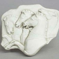 Rearing Horses Frieze - Fiberglass - Indoor/Outdoor Statue