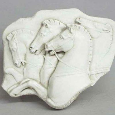Rearing Horses Frieze - Fiberglass - Indoor/Outdoor Statue -  - F68366