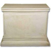 Rectangular Panel Pedestal 43x21x30in. Fiberglass In/Outdoor Statue