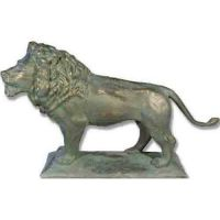 Reduction Art Lion 41in. Look L - Fiberglass - Outdoor Statue