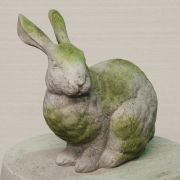 Regal Rabbit Fiber Stone Resin Indoor/Outdoor Garden Statue/Sculpture