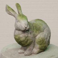 Regal Rabbit Fiber Stone Resin Indoor/Outdoor Garden Statue/Sculpture