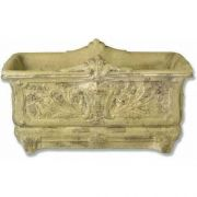 Regal Rectangular Pot 9in. - Fiber Stone Resin - Indoor/Outdoor Statue