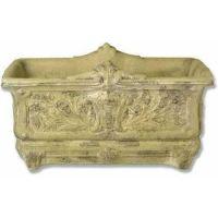 Regal Rectangular Pot 9in. - Fiber Stone Resin - Indoor/Outdoor Statue