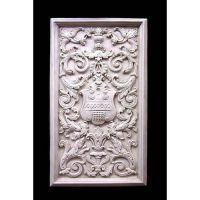 Renaissance Shield Panel 27in. - Fiberglass - Outdoor Statue