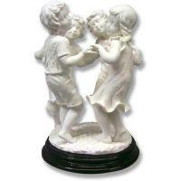 Ring Around Rosie 9in. High - Carrara Marble Indoor Statue