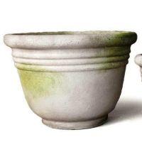 Ring Pot Fiber Stone Resin 9in. Indoor/Outdoor Garden Statue/Sculpture