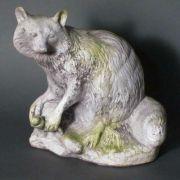 River Raccoon Fiber Stone Resin Indoor/Outdoor Garden Statue/Sculpture
