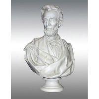 Lincoln Bust Draped Beard 34in. - Fiberglass - Outdoor Statue