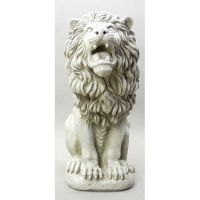 Roman Estate Lion 30in. - Fiberglass - Indoor/Outdoor Statue