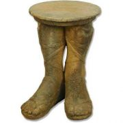 Roman Feet Table (21.5in. H) Fiber Stone Resin Indoor/Outdoor Statue