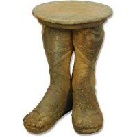 Roman Feet Table (21.5in. H) Fiber Stone Resin Indoor/Outdoor Statue