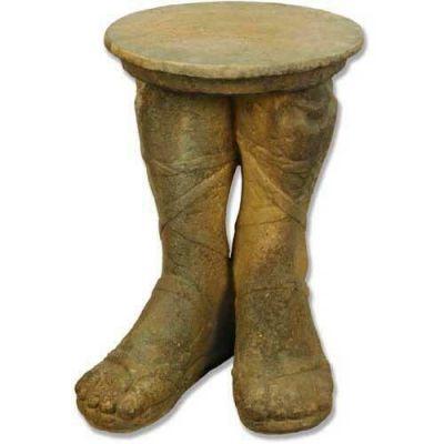 Roman Feet Table (21.5in. H) Fiber Stone Resin Indoor/Outdoor Statue -  - FS8249