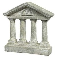Roman Home Four Column 10in. - Fiberglass - Outdoor Statue