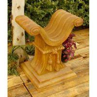 Roman Table Base 29in. Fiber Stone Resin Indoor/Outdoor Garden Statue
