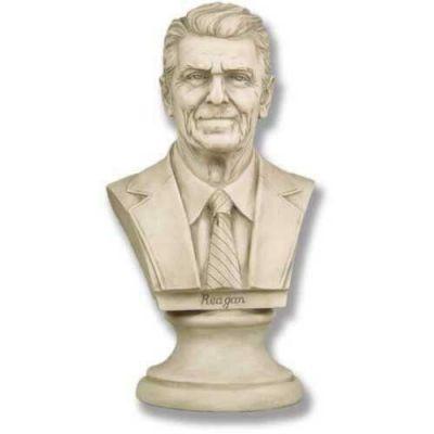 Ronald Reagan Bust 12in. High - Fiberglass Resin - Outdoor Statue -  - F7828