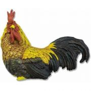 Rooster - Sitting 15in. (Full Color) - Fiberglass Resin - Statue