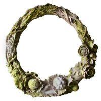 Rose Wreath Fiber Stone Resin Indoor/Outdoor Garden Statue/Sculpture