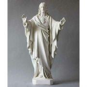 Sacred Heart 26in. - Fiberglass - Indoor/Outdoor Garden Statue