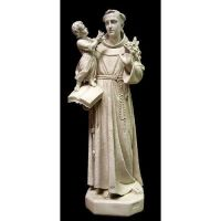 Saint Anthony With Child 53 In. Fiberglass - Outdoor Statue