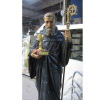 Saint Benedict For Lent 68in. Fiberglass - Indoor/Outdoor Statue