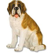Saint Bernard 24in. - Fiberglass - Indoor/Outdoor Garden Statue