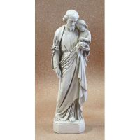 Saint Joseph With Child 36in. - Fiberglass - Outdoor Statue