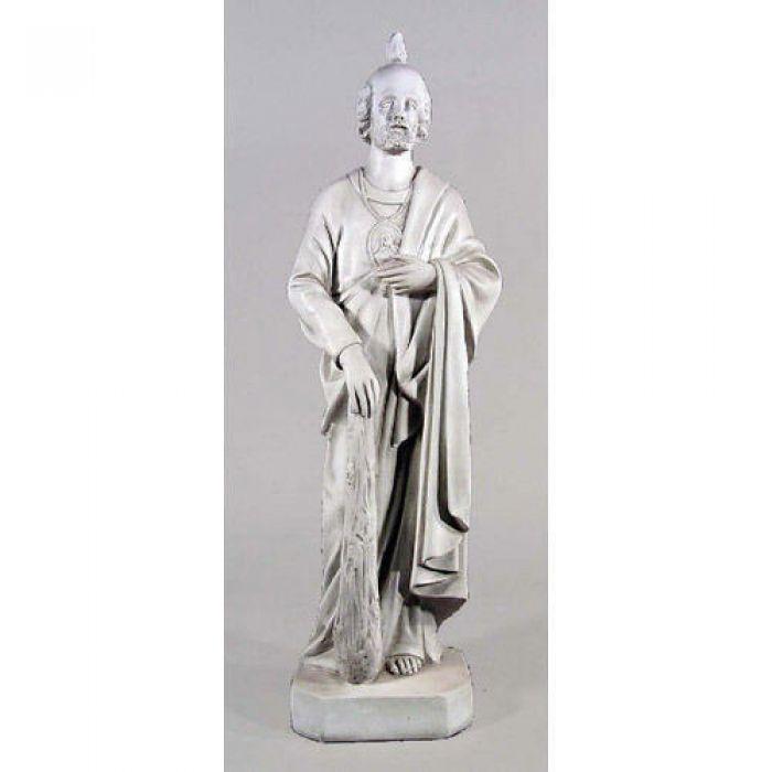 Saint Jude For Garden 36in Fibergl Resin Outdoor Statue