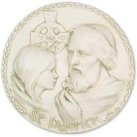 Saint Patrick Plaque Fiberglass Indoor/Outdoor