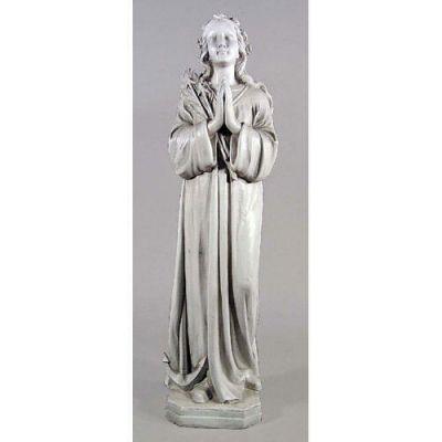 Saint Philomena 40in. Fiberglass Indoor/Outdoor Garden Statue -  - F69215