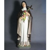 Saint Therese With Roses 60in. High - Fiberglass - Statue