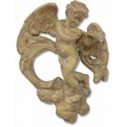 Sanctuary Cherub - Horn Player - Fiberglass - Outdoor Statue