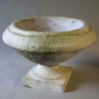 Sanis Pot - Fiber Stone Resin - Indoor/Outdoor Garden Statue/Sculpture