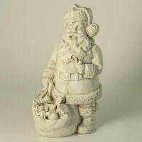 Santa - Fiberglass - Indoor/Outdoor Garden Statue/Sculpture