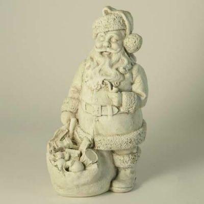 Santa - Fiberglass - Indoor/Outdoor Garden Statue/Sculpture -  - F00199