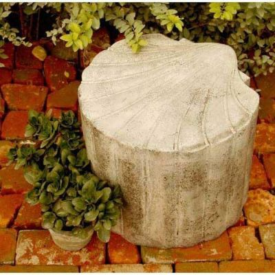 Scallop Shell Seat 15in. - Fiber Stone Resin - Indoor/Outdoor Statue -  - FS8211