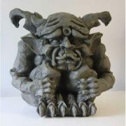 Scared Gargoyle 12in. - Fiberglass - Indoor/Outdoor Statue