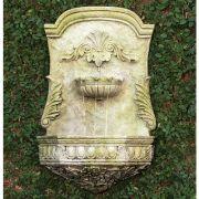 Scroll Fountain 29in. Fiber Stone Resin Indoor/Outdoor Garden Statue