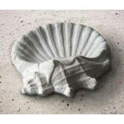 Seashell Birdbath 15 Win. - Fiber Stone Resin - Indoor/Outdoor Statue
