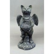 Sebastian Cat Angel 21in. - Fiberglass - Indoor/Outdoor Statue
