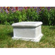 Sella Riser Stand Pedestal Statue Base 8in. - Stone - Statue Base