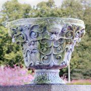 Wide Greenman Planter - Fiber Stone Resin - Indoor/Outdoor Statue