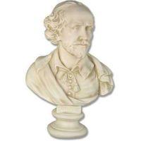 Shakespeare Bust 23in. - Fiberglass - Indoor/Outdoor Statue