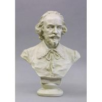 Shakespeare Informal Bust 18in. - Fiberglass - Outdoor Statue