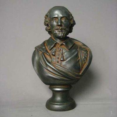 Shakespeare 12in. - Fiberglass - Indoor/Outdoor Garden Statue -  - F136