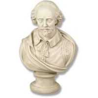 Shakespeare Medium 18in. High - Fiberglass - Outdoor Statue