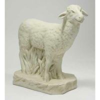 Sheep Standing 23in. - Fiberglass - Indoor/Outdoor Garden Statue