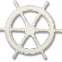 Ship Wheel 16in. High Fiberglass Indoor/Outdoor Garden Statue